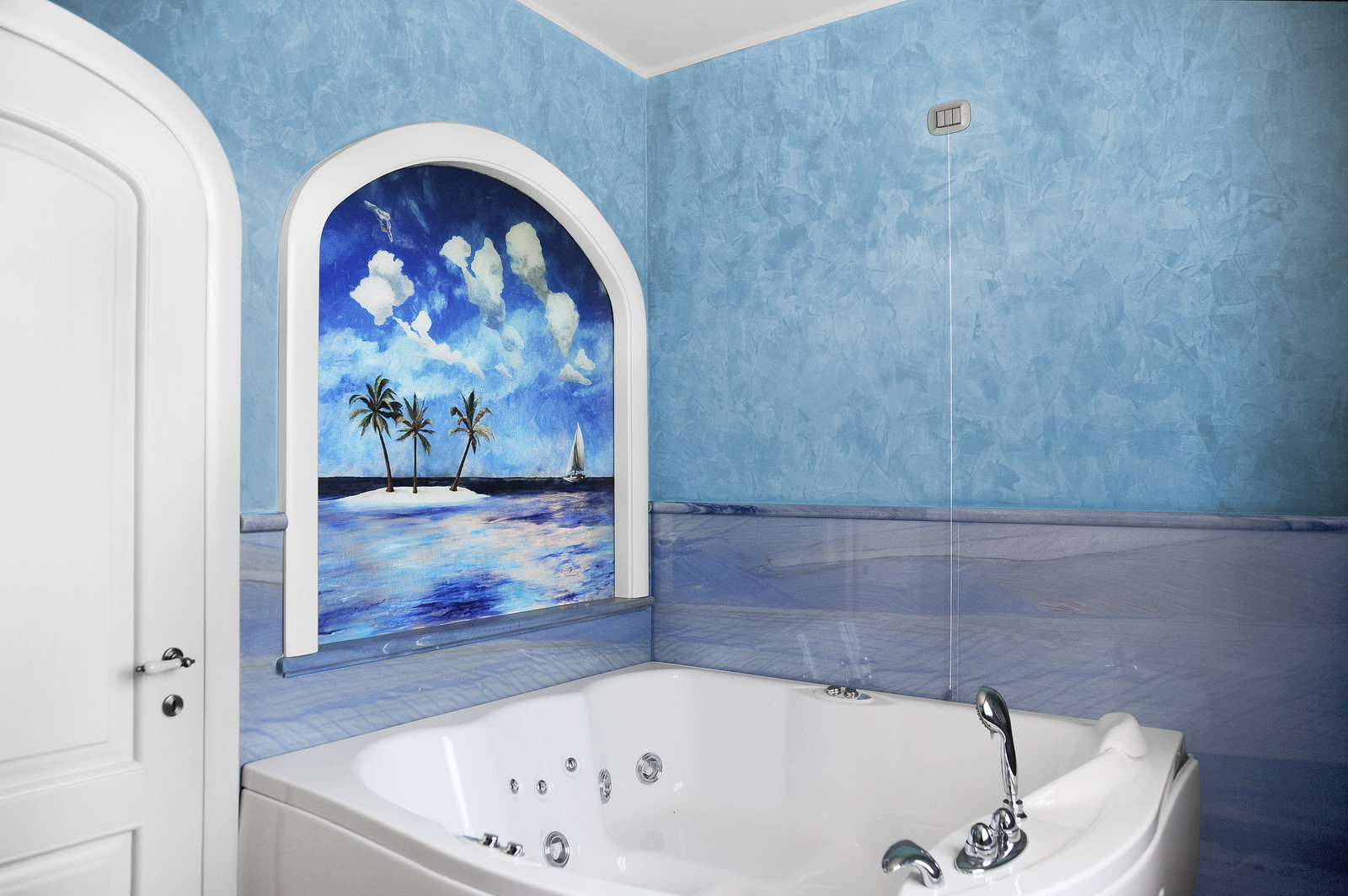 MEDONE MARMI Rivestimento Bagno in Marmo Azul Macaubas - 2