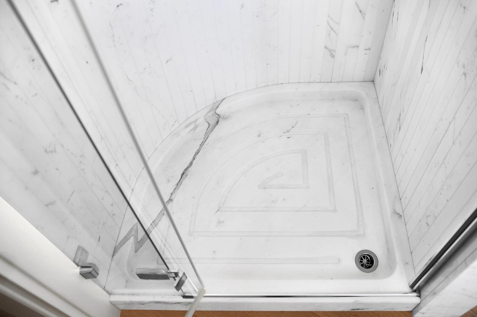 Medone Marmi Bagno Piatto Doccia in Marmo Bianco Carrara - 6